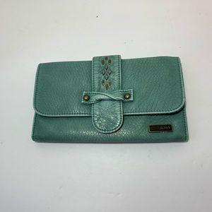 Roxy Teal Tri Fold Wallet EUC